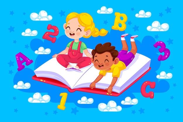 Dzieci Wracają Do Szkoły Darmowych Wektorów