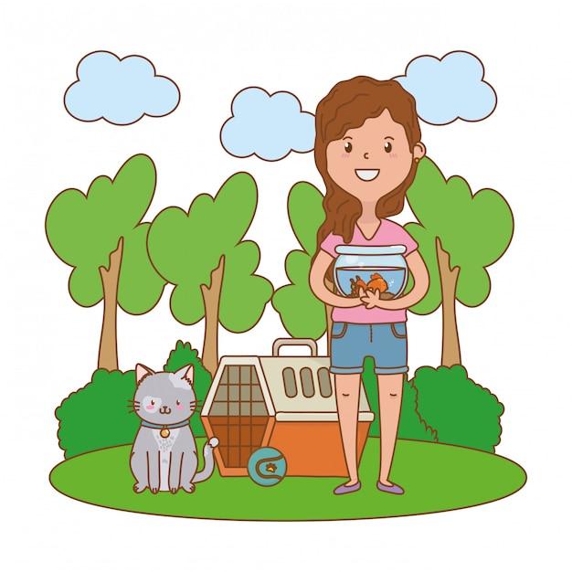 Dzieciństwo Szczęśliwe Dziecko Kreskówka Premium Wektorów