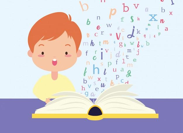 Dziecko w światowym dniu książki Darmowych Wektorów