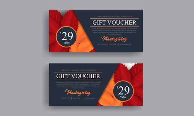 Dziękczynienie z pomarańczowym dyni na plakat promocyjny. szablon zaproszenia do promocji Premium Wektorów