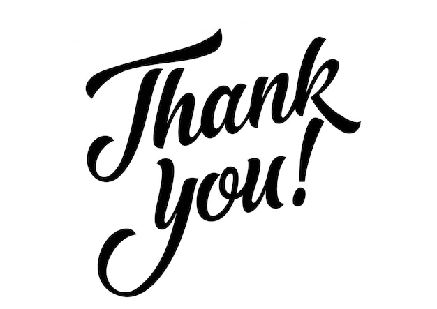 Dziękuję Ci Napis Darmowych Wektorów
