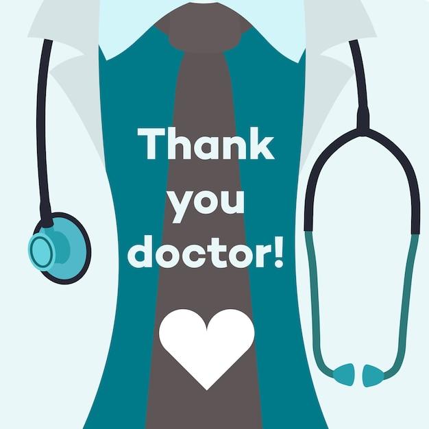 Dziękuje Doktorze - Pojęcie Ilustracja Premium Wektorów