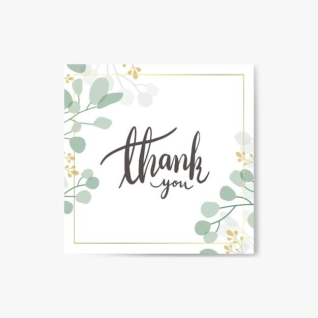 Dziękuję kartce Darmowych Wektorów