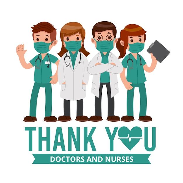 Dziękuję Personelowi Medycznemu Premium Wektorów