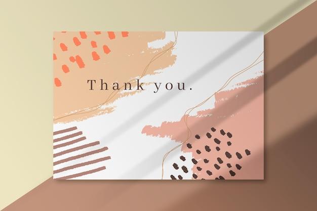 Dziękuję Szablon Karty Darmowych Wektorów