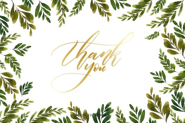 Dziękuję tło z kwiatową dekoracją Darmowych Wektorów