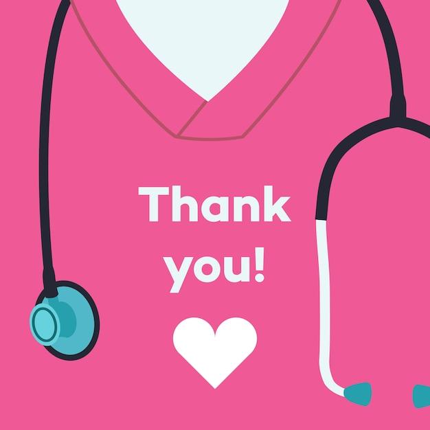 Dziękuje Was Lekarze I Pielęgniarki - Pojęcie Ilustracja Premium Wektorów