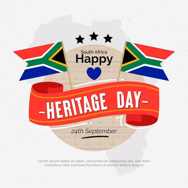 Dzień Dziedzictwa Z Flagami Darmowych Wektorów