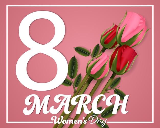Dzień kobiet 8 marca tło. Premium Wektorów