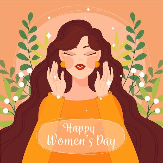 Dzień Kobiet W Płaskiej Konstrukcji Darmowych Wektorów