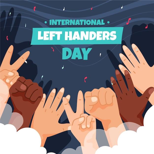 Dzień Leworęcznych O Różnych Rękach Darmowych Wektorów
