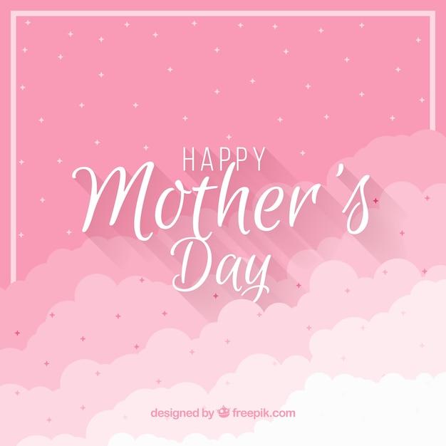 Dzień Matki Tło Z Chmurami Darmowych Wektorów