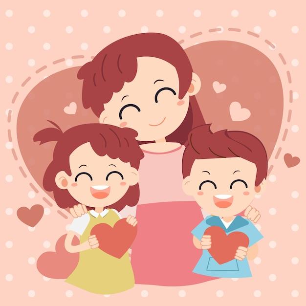 Dzień matki Premium Wektorów