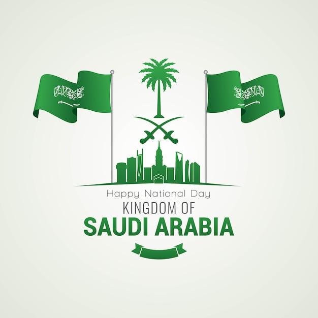 Dzień Narodowy Arabii Saudyjskiej Premium Wektorów