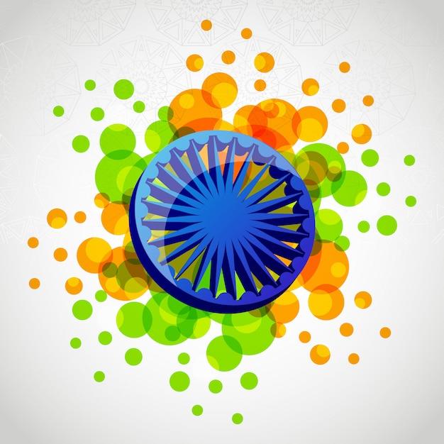 Dzień niepodległości godła patriotycznego indii Premium Wektorów