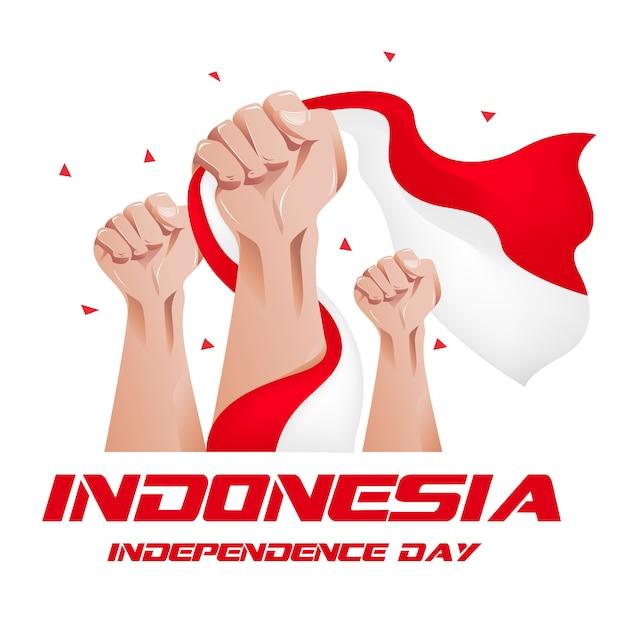 Dzień niepodległości indonezji Premium Wektorów