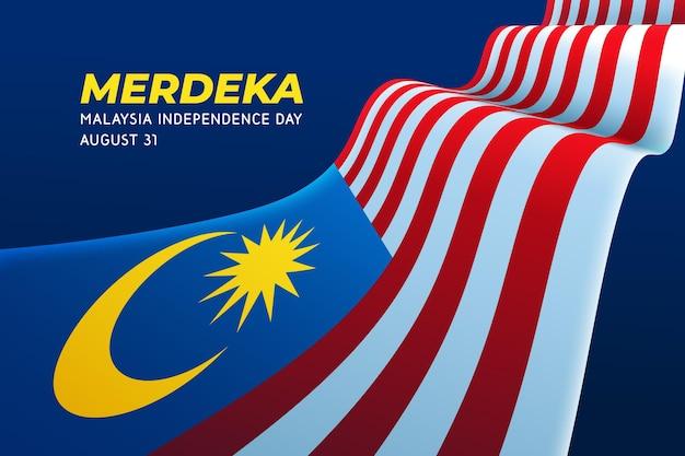 Dzień Niepodległości Malezji Premium Wektorów