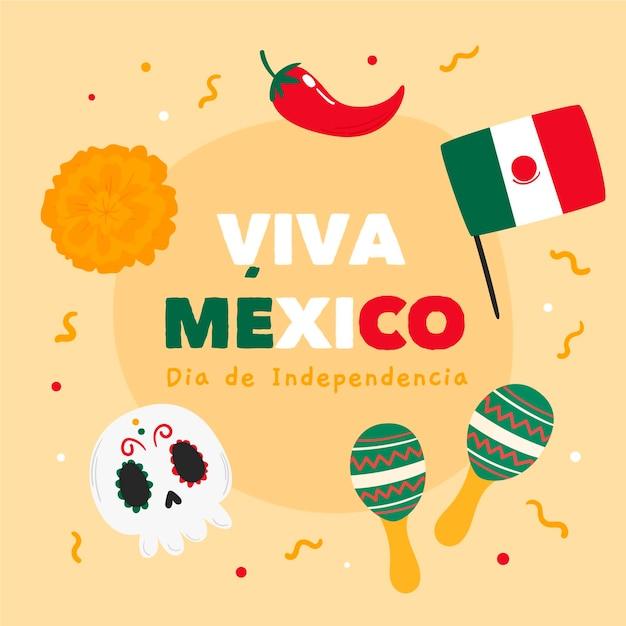 Dzień Niepodległości Meksyku Darmowych Wektorów