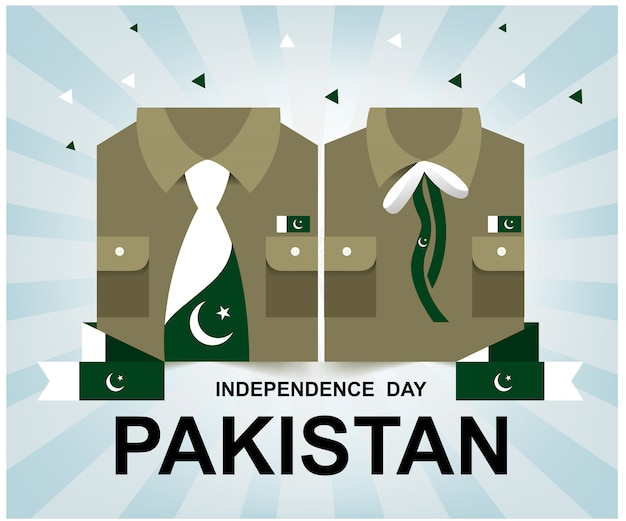 Dzień niepodległości pakistanu Premium Wektorów