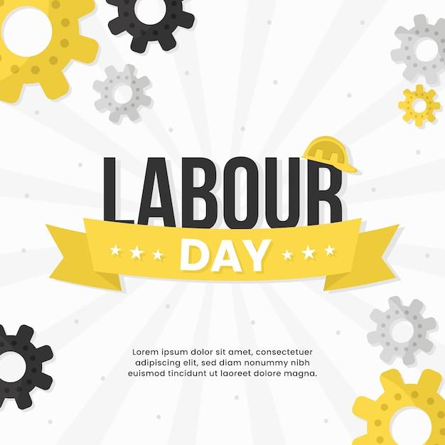 Dzień Pracy Płaska Darmowych Wektorów