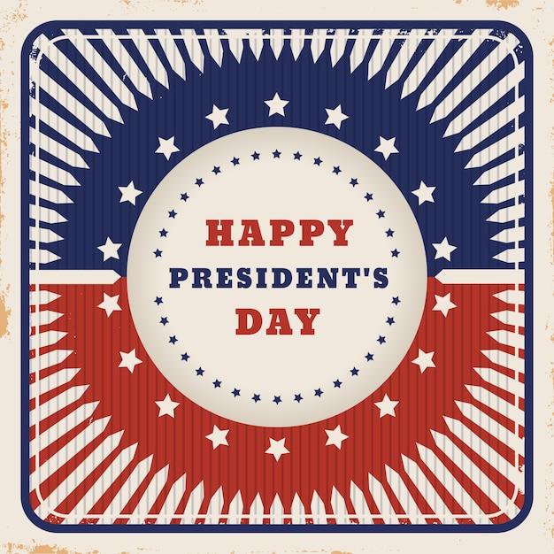 Dzień Prezydenta Vintage W Kolorach Flagi Darmowych Wektorów