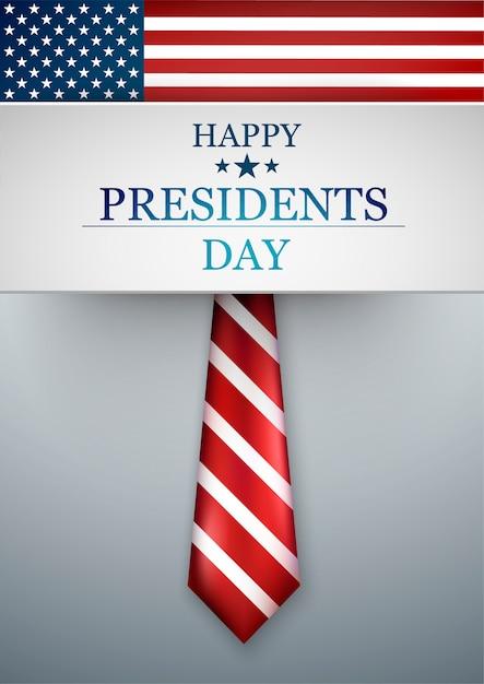 Dzień Prezydentów W Usa. Ilustracja Amerykańskiego święta Narodowego. Ilustracja Wektorowa Premium Wektorów