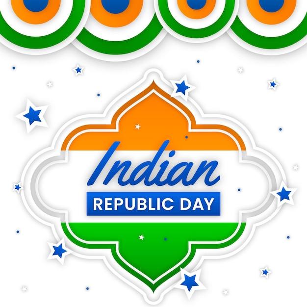 Dzień Republiki Indii W Stylu Papierowym Darmowych Wektorów