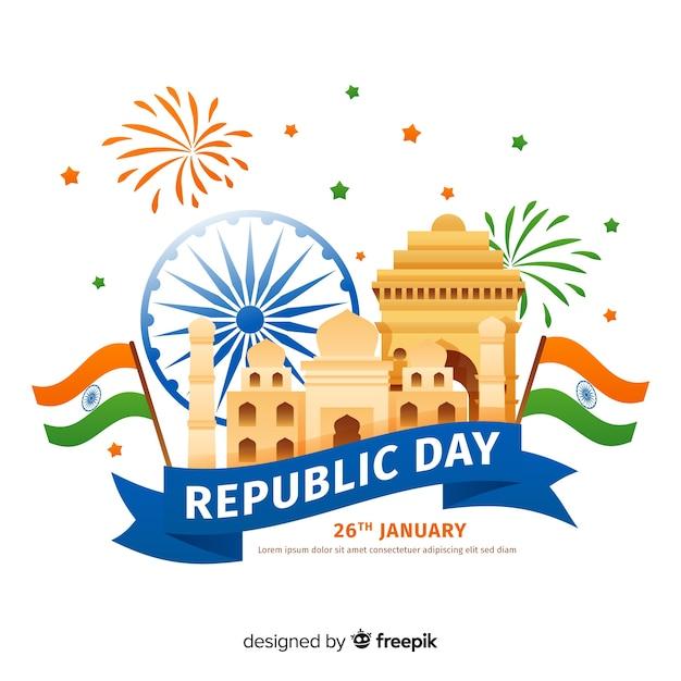 Dzień republiki indii Darmowych Wektorów
