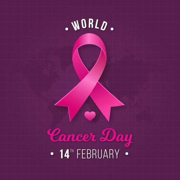 Dzień Różowej Wstążki Raka Premium Wektorów