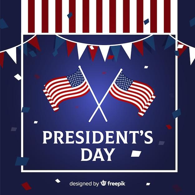 Dzień szczęśliwego prezydenta Darmowych Wektorów