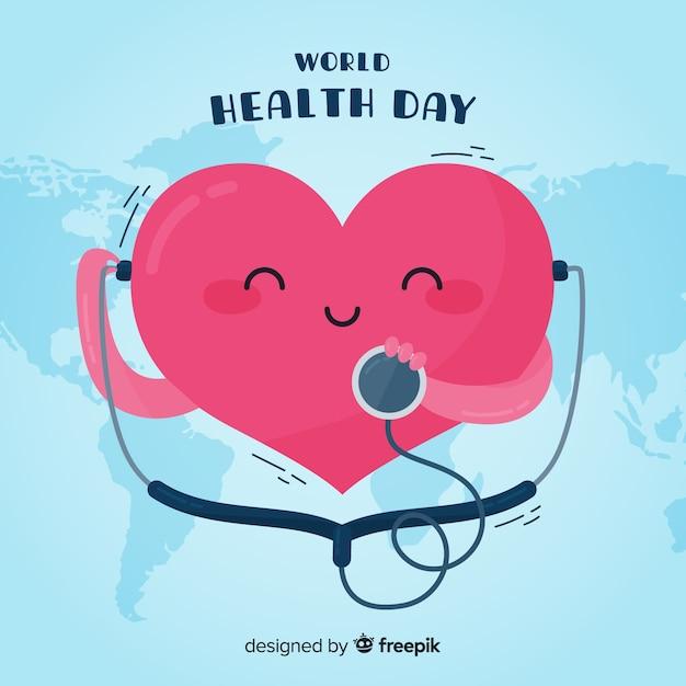 Dzień zdrowia szczęśliwego świata Darmowych Wektorów