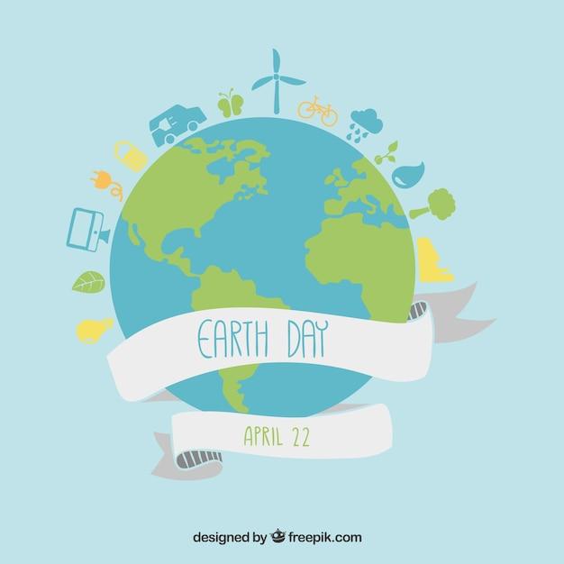 Dzień Ziemi Ilustracji Darmowych Wektorów