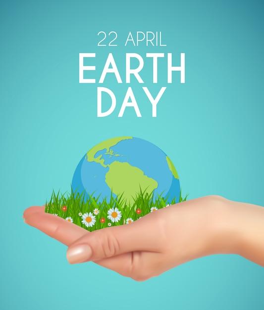Dzień Ziemi W Tle Kwietnia Ilustracji Premium Wektorów