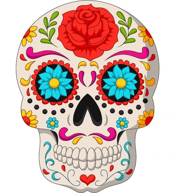 Dzień zmarłych czaszek Premium Wektorów