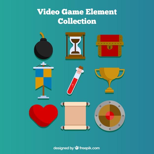 Dziewięć obiekty do gier wideo Darmowych Wektorów