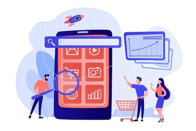 E-commerce, Kampania Promocyjna Zakupów Internetowych Darmowych Wektorów