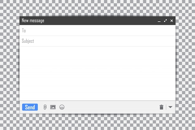 E-mail pusty szablon ramki poczty internetowej do wiadomości e-mail Premium Wektorów