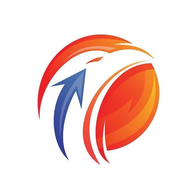 Eagle Head With Arrow Logo Design Premium Wektorów