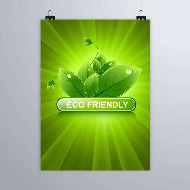 Eco Friendly Broszura Darmowych Wektorów
