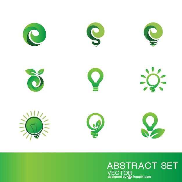 Eco logo szablony Darmowych Wektorów