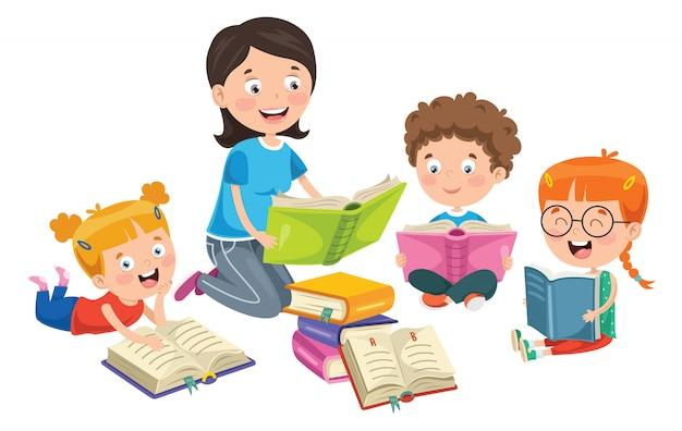 Edukacja Dzieci Premium Wektorów