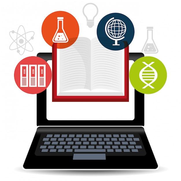 Edukacja Elektroniczna Lub E-learning Premium Wektorów