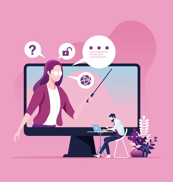 Edukacja Online I Koncepcja E-learningu Premium Wektorów