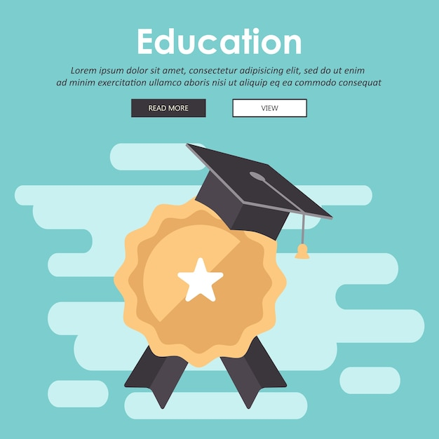 Edukacja, Szkolenie, Samouczek On-line, Koncepcja E-learningu Premium Wektorów