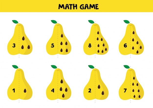 Edukacyjna gra matematyki dla dzieci Premium Wektorów