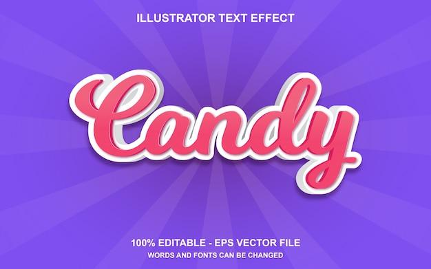Edytowalny Efekt Tekstowy Candy Premium Wektorów