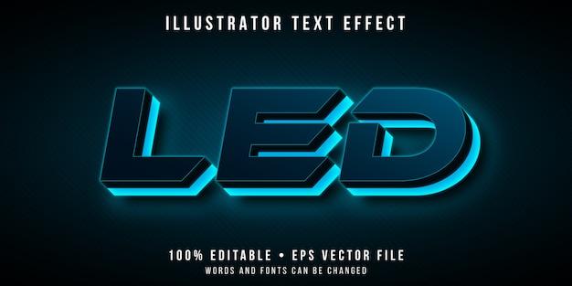 Edytowalny Efekt Tekstowy - Futurystyczny Styl światła Neonowego Premium Wektorów
