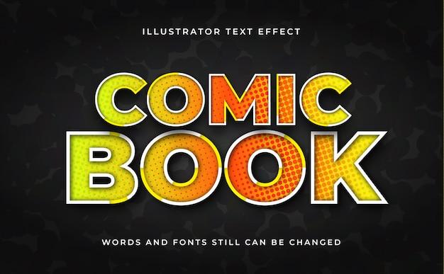 Edytowalny Efekt Tekstowy Komiksu Premium Wektorów