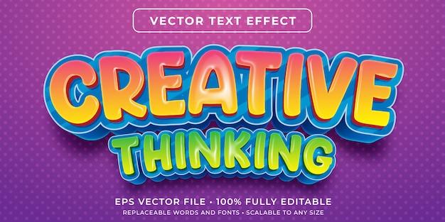 Edytowalny Efekt Tekstowy - Kreatywny Styl Dla Dzieci Premium Wektorów