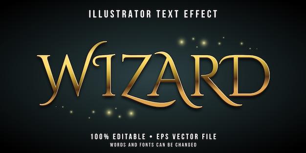Edytowalny Efekt Tekstowy - Magiczny Styl Czarodzieja Premium Wektorów